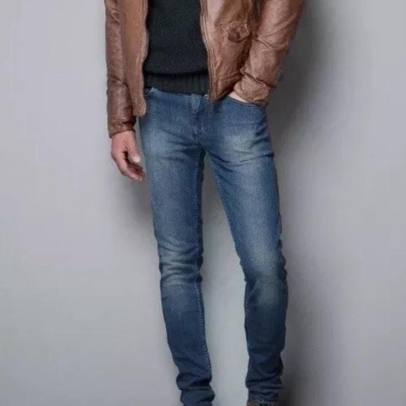 Zara Jeans Man Distressed Slim Fit Denim Mens 31 Poshmark